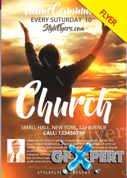Free Church Flyer Templates New Free Church Psd V12 Flyer Template