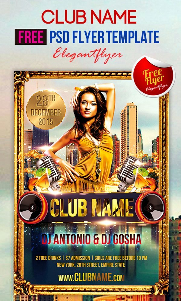 Free Club Flyer Templates Beautiful 90 Awesome Free Flyer Templates Psd