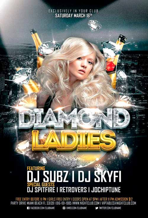 Free Club Flyer Templates Beautiful Diamond La S Club Flyer Template for Shop