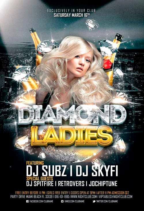 Free Club Flyer Templates Beautiful Diamond La S Club Flyer Template for Shop