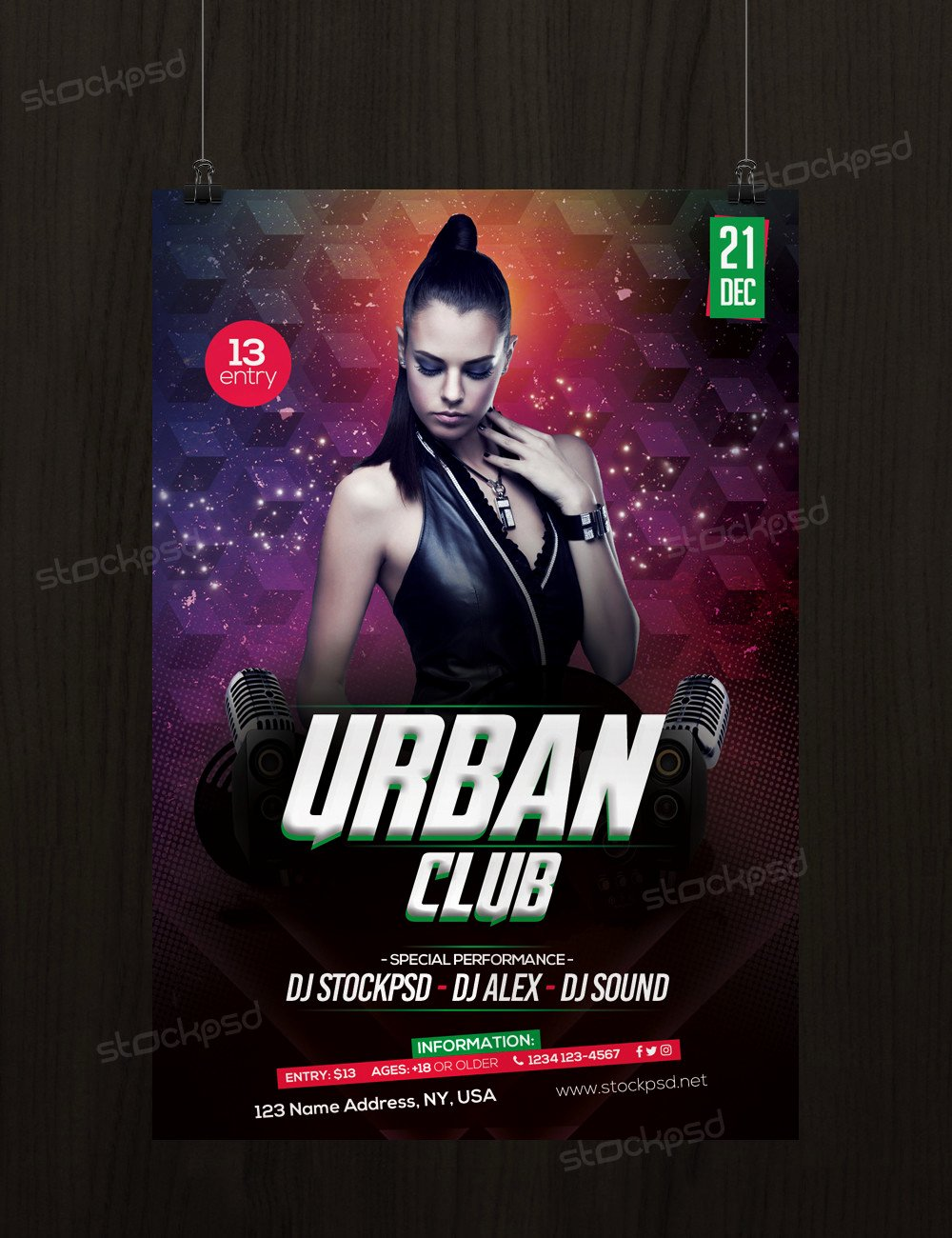 Free Club Flyer Templates Beautiful Urban Club Download Free Psd Flyer Template Free Psd