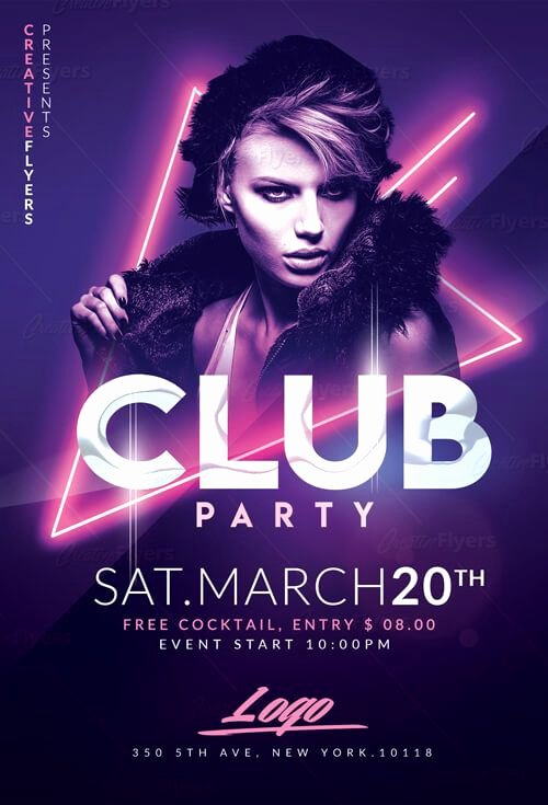 Free Club Flyer Templates Elegant Club Party Flyer Templates Psd Flyer Templates