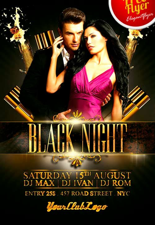 Free Club Flyer Templates Elegant Download Free Black Night Club Psd Flyer Template