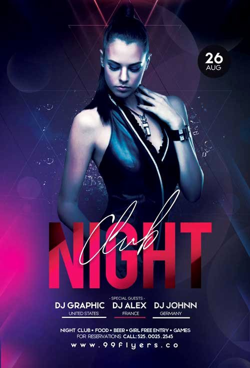 Free Club Flyer Templates Elegant Free Night Club Flyer Template Download Flyer Freebies