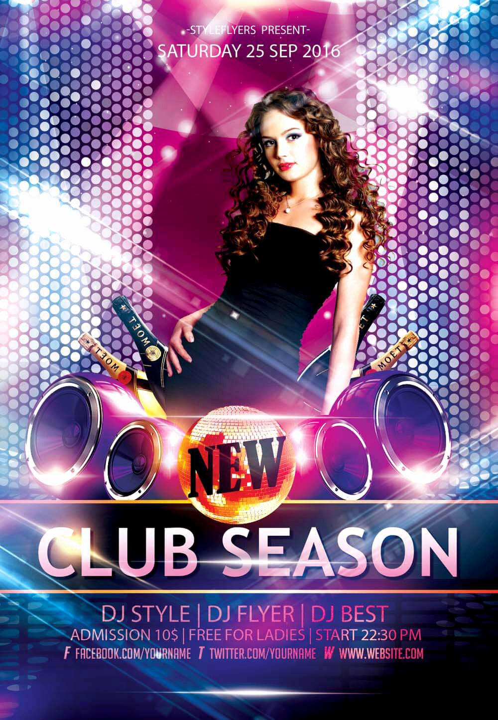 Free Club Flyer Templates Elegant New Party Season Free Psd Flyer Templates Graphicsfuel