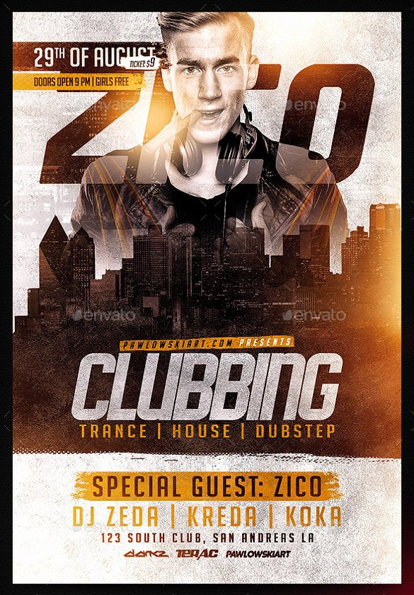 Free Club Flyer Templates Fresh 43 Club Flyer Templates Psd Rtf Pdf format Download