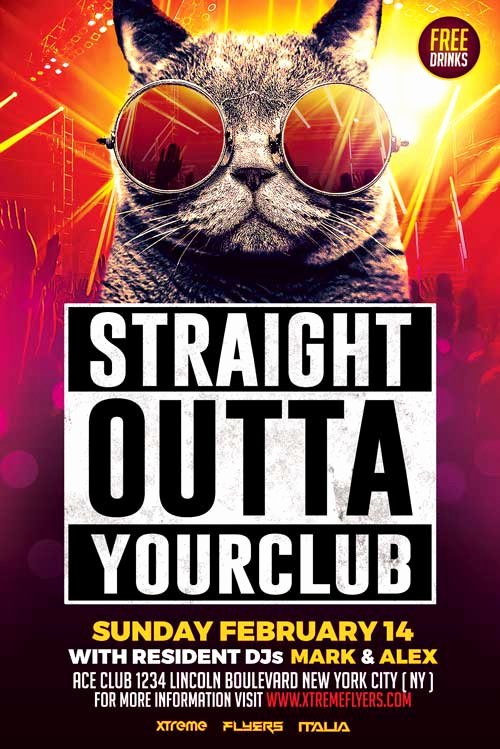Free Club Flyer Templates Inspirational Nightclub Flyer Template Psd Download Xtremeflyers