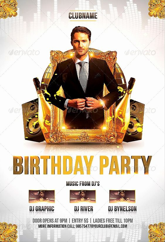 Free Club Flyer Templates Lovely Birthday Party Flyer Template