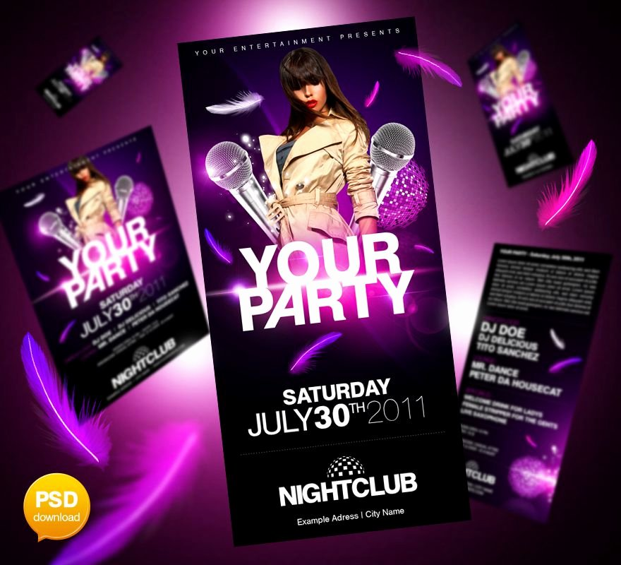 Free Club Flyer Templates Luxury 20 Best Free Psd Party Club Flyer Templates Download