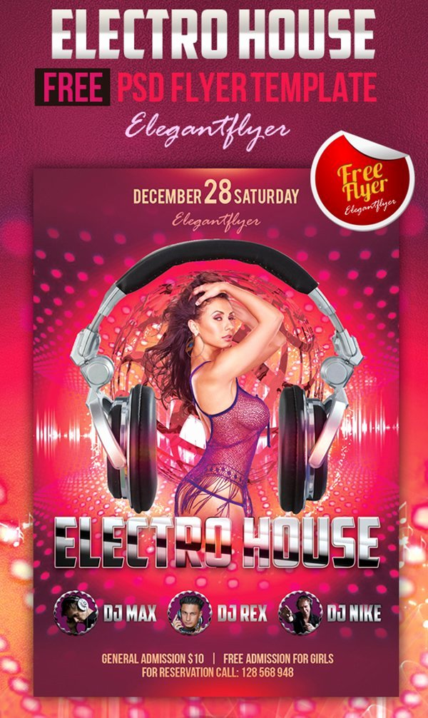 Free Club Flyer Templates Luxury 90 Awesome Free Psd Flyer Templates