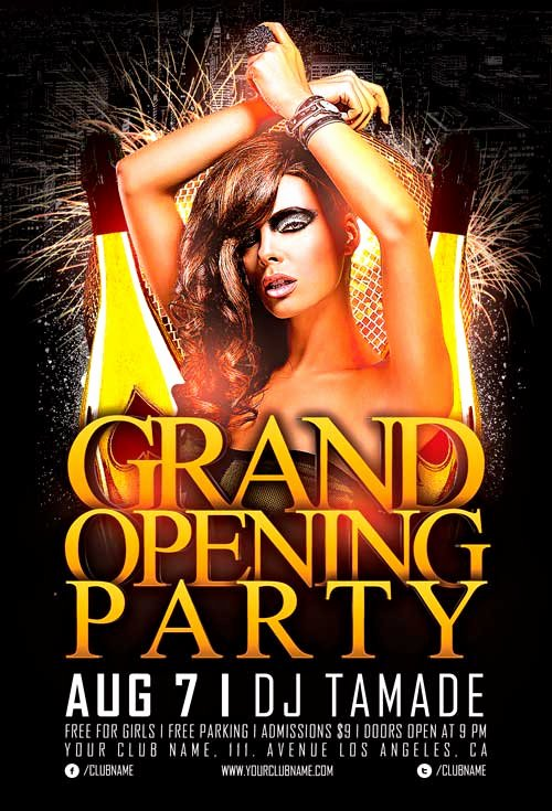 Free Club Flyer Templates Luxury Free Grand Opening Party Flyer Template Vol 2