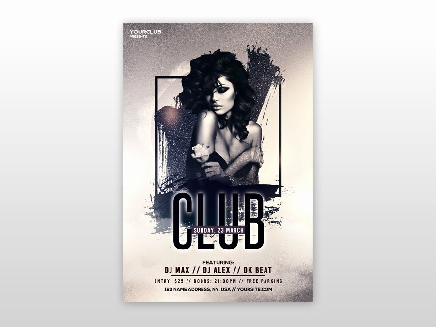 Free Club Flyer Templates New Club Vibe Free Psd Flyer Template by Design On