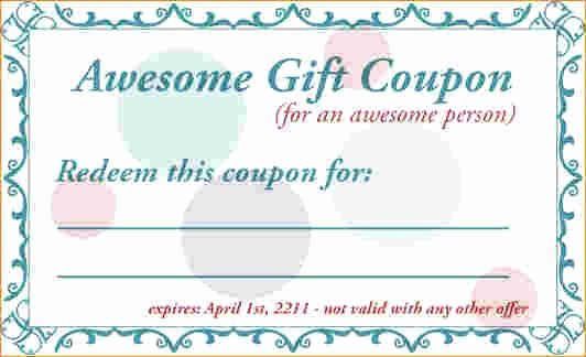 Free Coupon Template Word Best Of Birthday Coupon Template