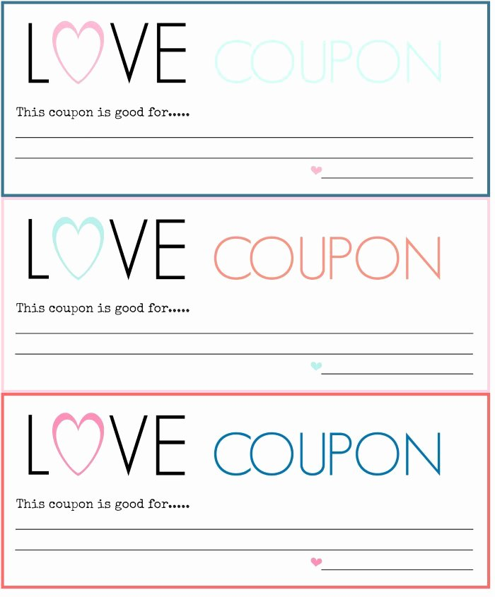 Free Coupon Template Word Elegant Diy Love Coupons Free Printable A Blossoming Life