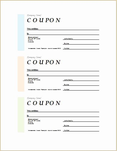Free Coupon Template Word New How to Make Coupons with Sample Coupon Templates