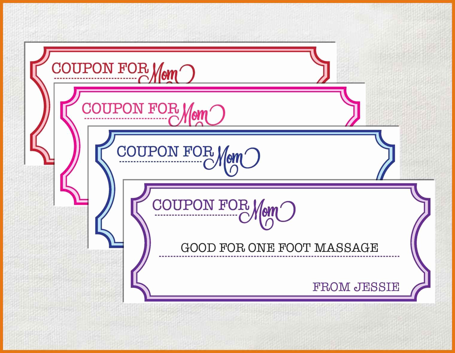 Free Coupon Template Word Unique Coupon Template