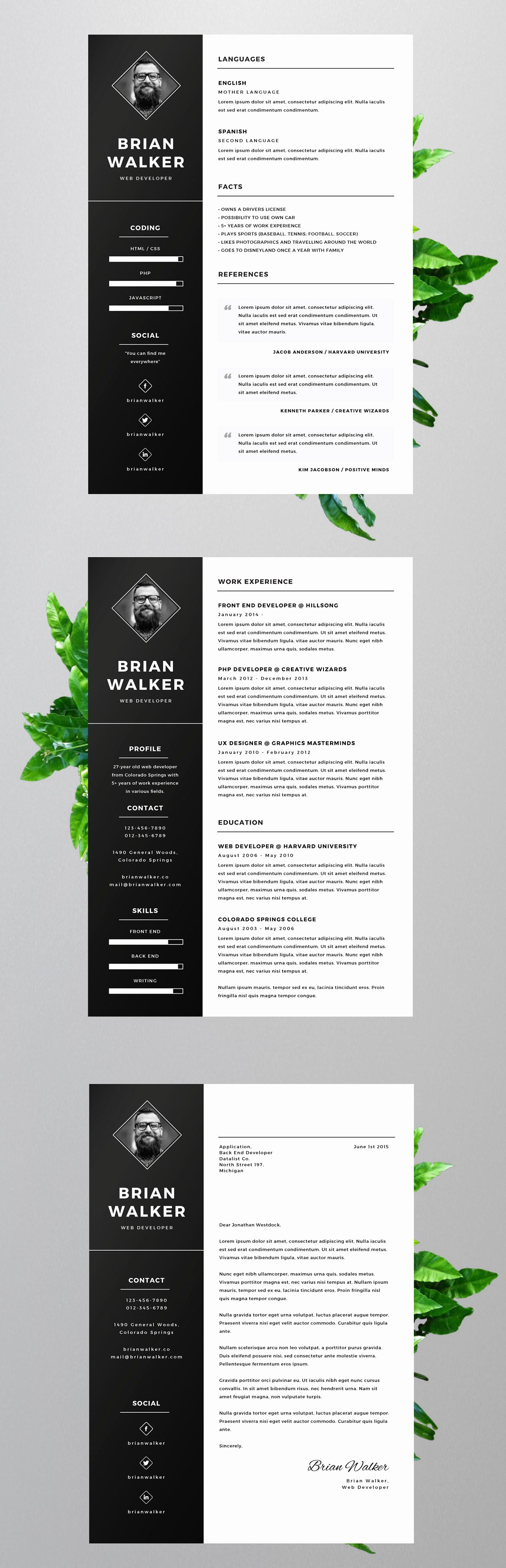 Free Creative Resume Templates Word Awesome Free Resume Template for Word Shop & Illustrator On