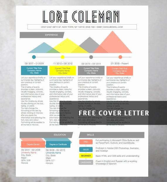 Free Creative Resume Templates Word Beautiful Infographic Creative Colorful Resume Collection 4 Resume