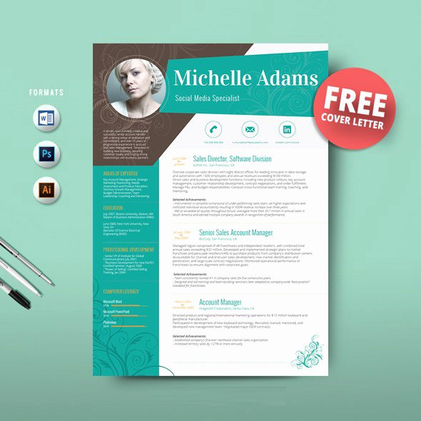 Free Creative Resume Templates Word Lovely 16 Ms Word Resume Templates with the Professional Look