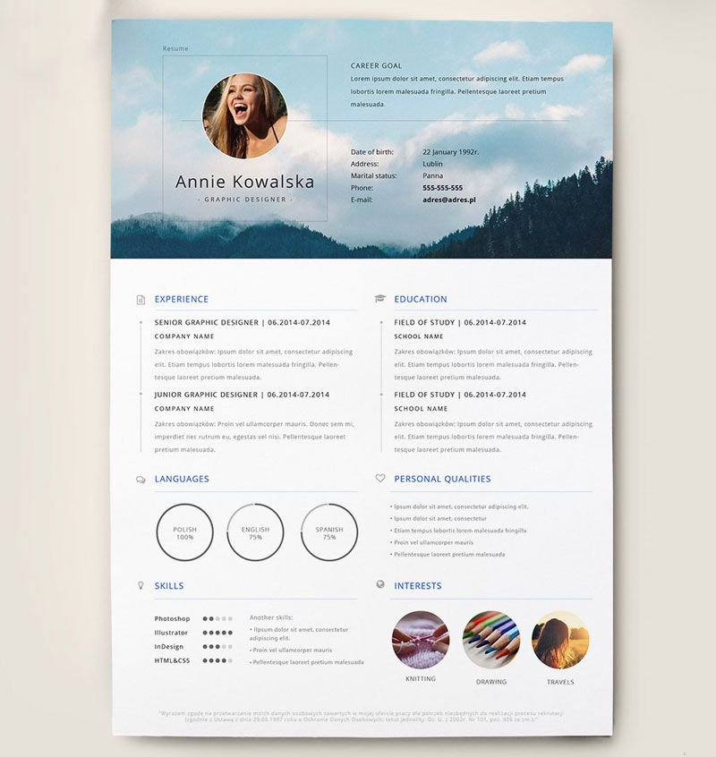 Free Creative Resume Templates Word Lovely Best Free Clean Resume Templates In Psd Ai and Word Docx