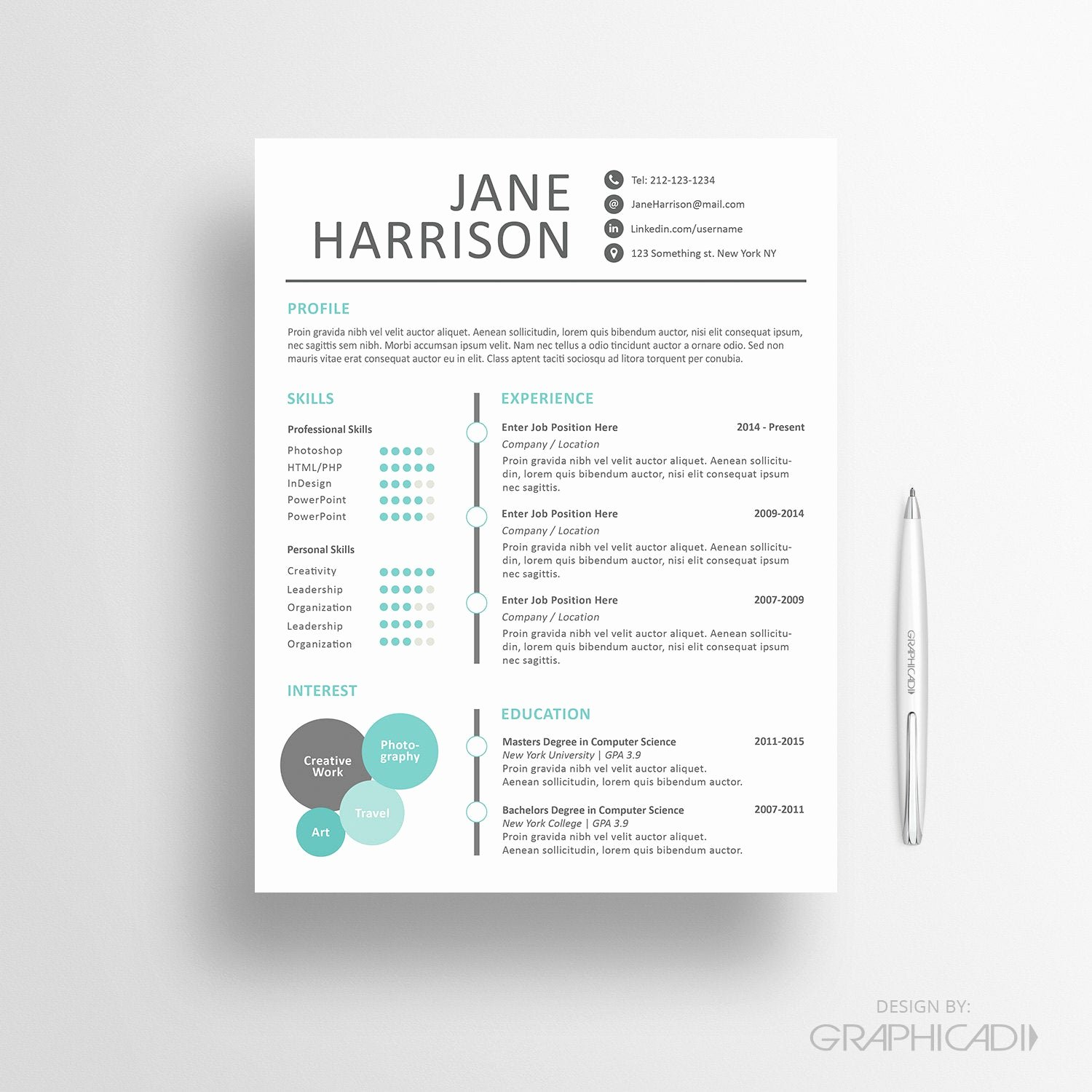 Free Creative Resume Templates Word Lovely Creative Resume Template Cover Letter Word Resume by