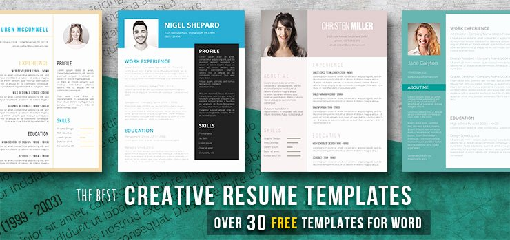 Free Creative Resume Templates Word Lovely Creative Resume Templates Get the Job You Deserve