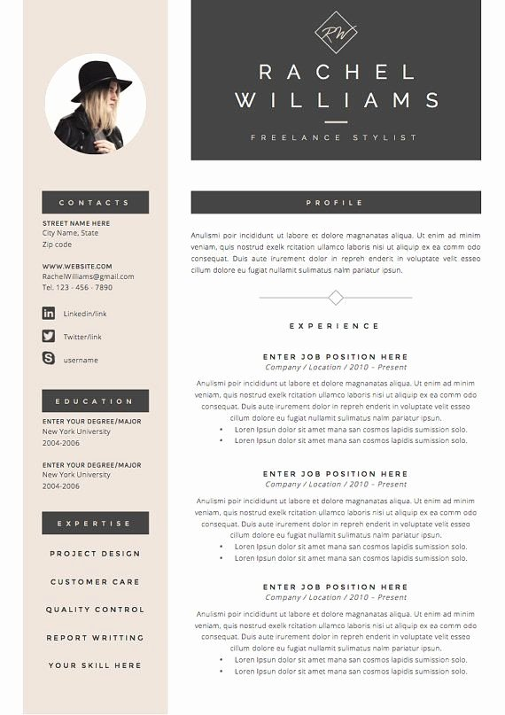 Free Creative Resume Templates Word Luxury 25 Best Ideas About Creative Cv Template On Pinterest