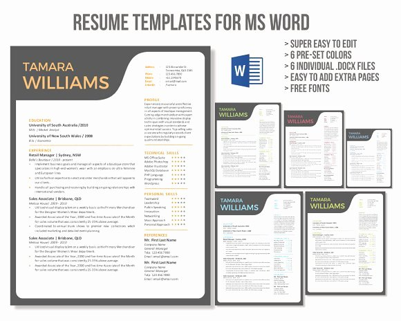 Free Creative Resume Templates Word Luxury Unique Creative Word Resume Template Resume Templates
