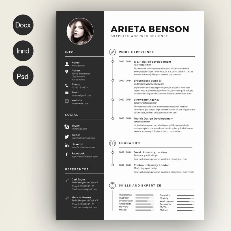 Free Creative Resume Templates Word Unique Civil Engineer Resume Template Word Psd and Indesign