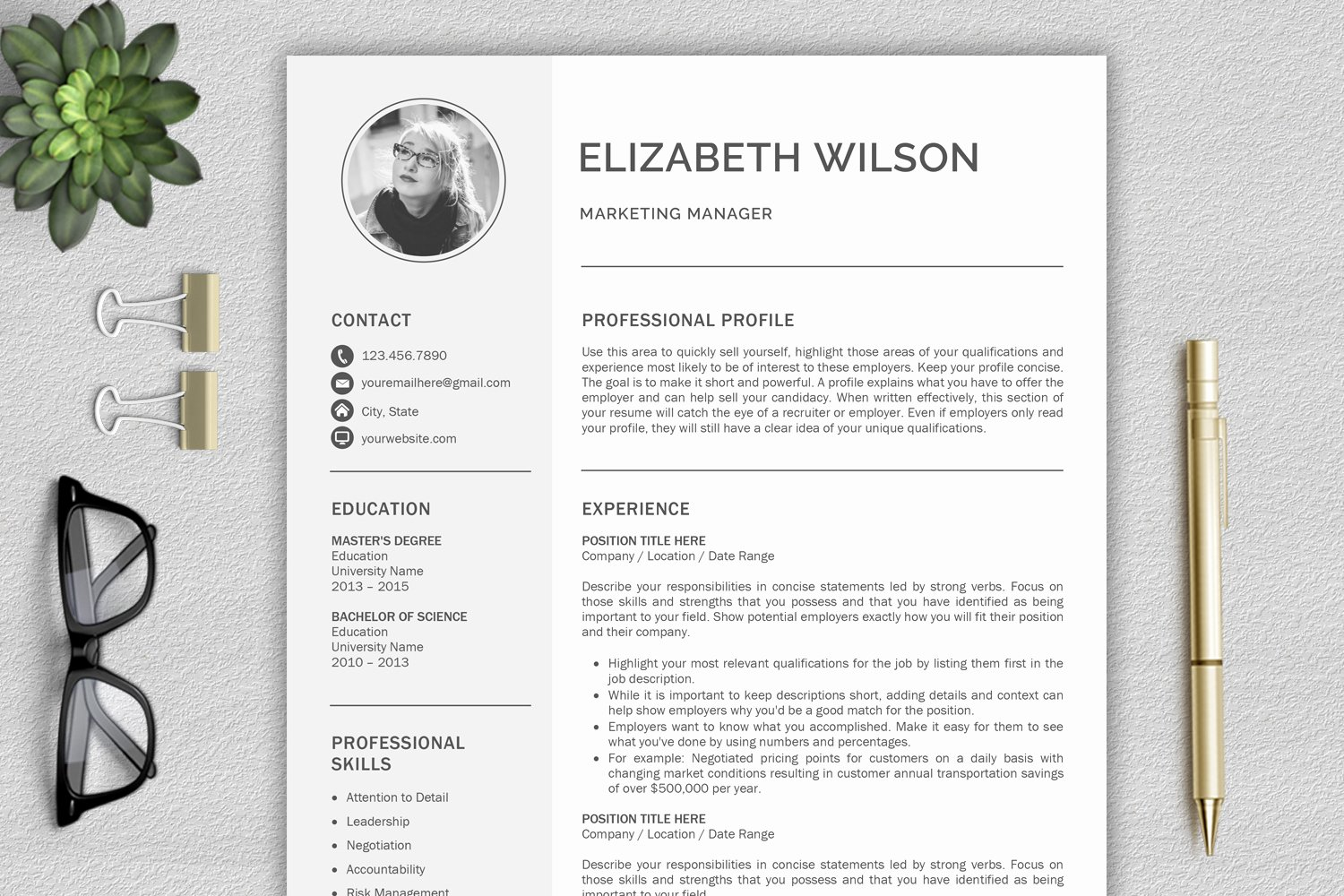 Free Creative Resume Templates Word Unique Creative Resume Template Cv Template Resume Template for