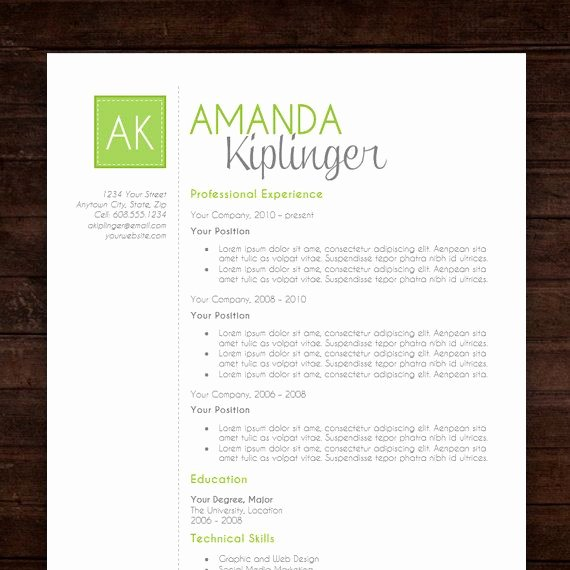 Free Creative Resume Templates Word Unique Resume Template Cv Template for Word Mac or Pc