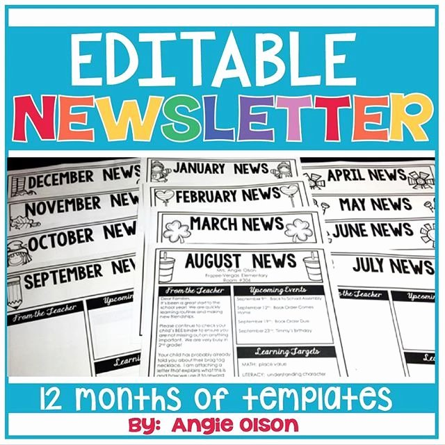Free Editable Newsletter Templates Awesome 1000 Ideas About Preschool Newsletter Templates On