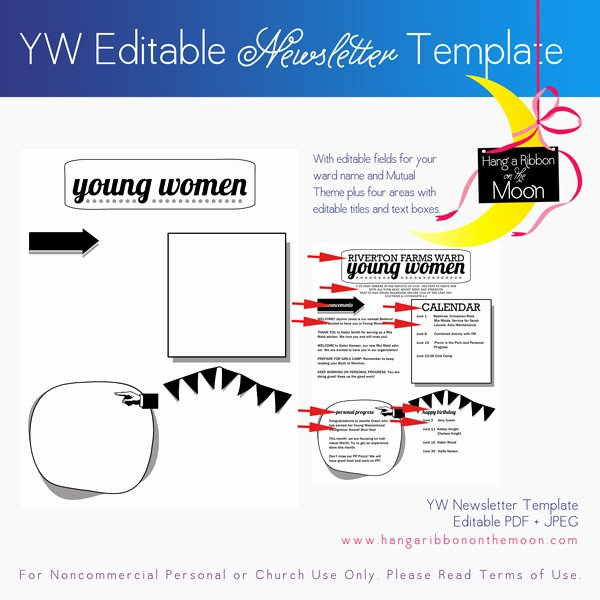 Free Editable Newsletter Templates Awesome Yw Newsletter Template [editable Pdf Including Mutual