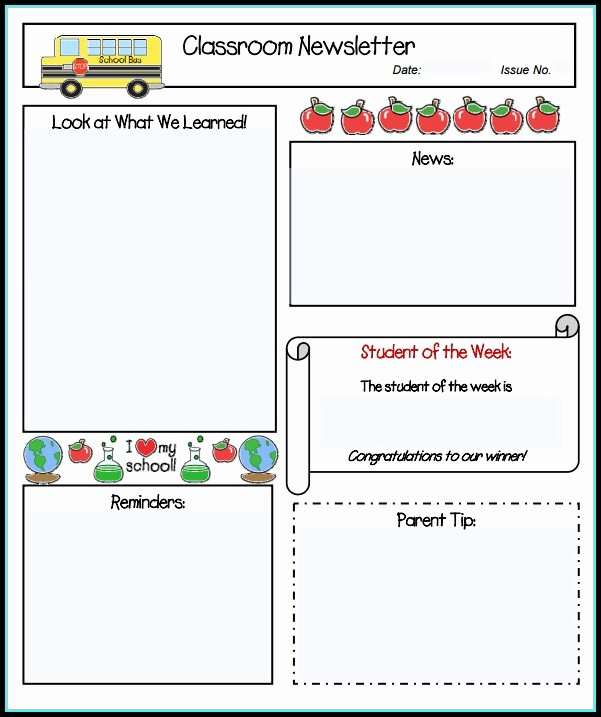 Free Editable Newsletter Templates Best Of Free Editable Preschool Newsletter Templates Templates 1
