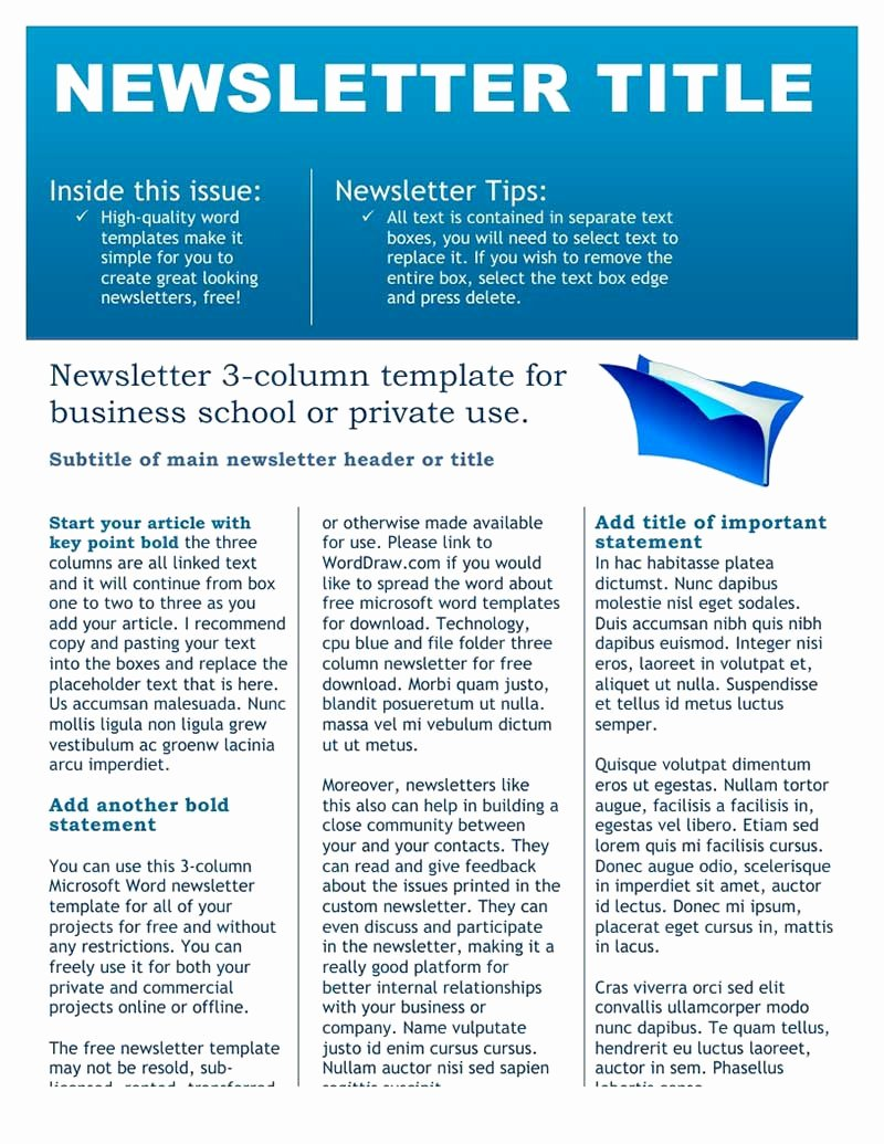 Free Editable Newsletter Templates Best Of Newsletter Templates Free Download Create Edit Fill