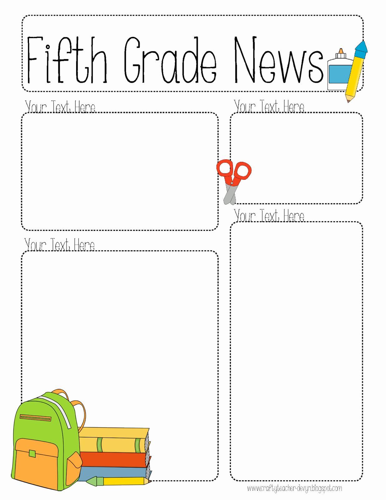 Free Editable Newsletter Templates Elegant Pletely Editable Newsletter for All Grades