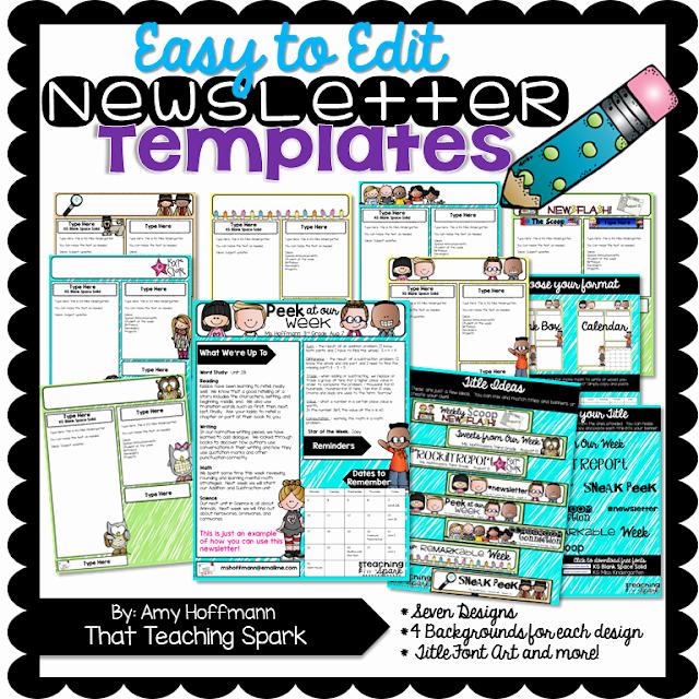 Free Editable Newsletter Templates Fresh Editable Newsletter Pack and Winners that Teaching Spark