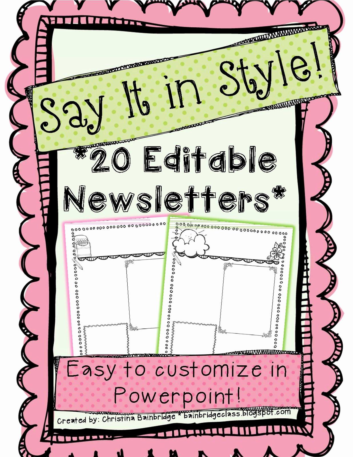 Free Editable Newsletter Templates Fresh Wel E to the Uni Corner why I Do What I Do Families