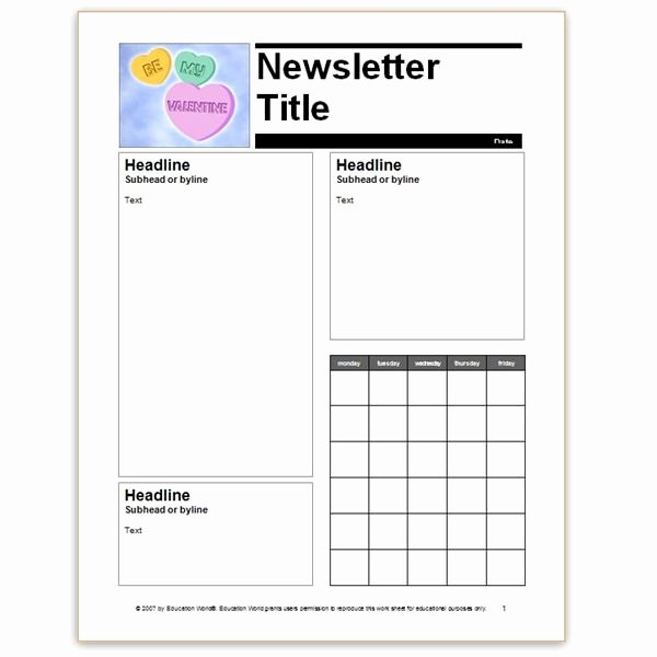 Free Editable Newsletter Templates Fresh where to Find Free Church Newsletters Templates for