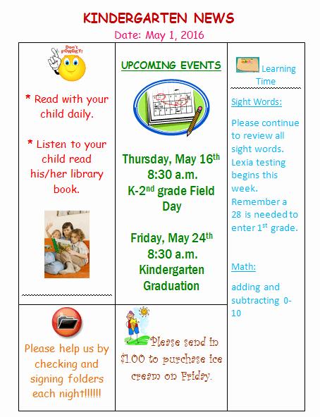 Free Editable Newsletter Templates Lovely Kindergarten Newsletter Template 3 Free Newsletters
