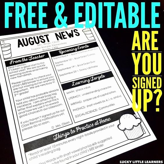 Free Editable Newsletter Templates New My Email the O Jays and Texts On Pinterest