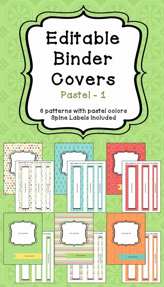 Free Editable Printable Binder Covers Beautiful Editable Binder Covers & Spines In Pastel Colors Part 1