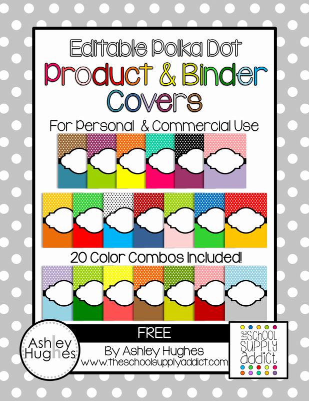 Free Editable Printable Binder Covers Beautiful Free Editable Polka Dot Product & Binder Covers