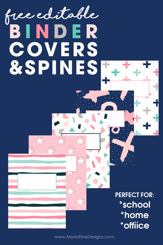 Free Editable Printable Binder Covers Elegant Editable Binder Covers & Spines