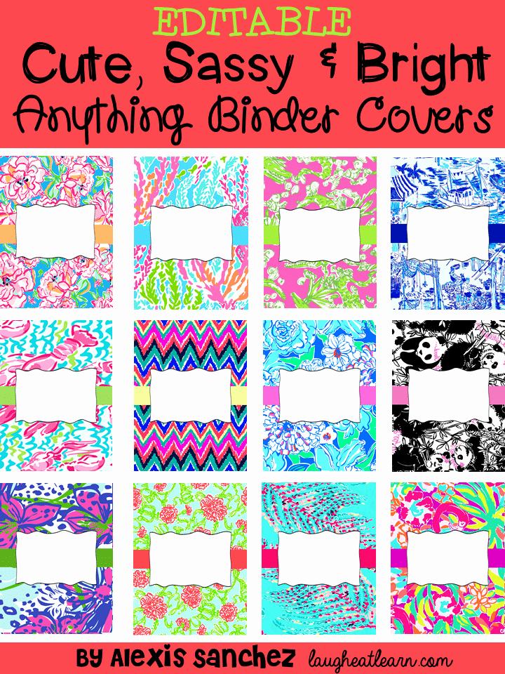 Free Editable Printable Binder Covers Elegant Free Editable Anything Binder Covers