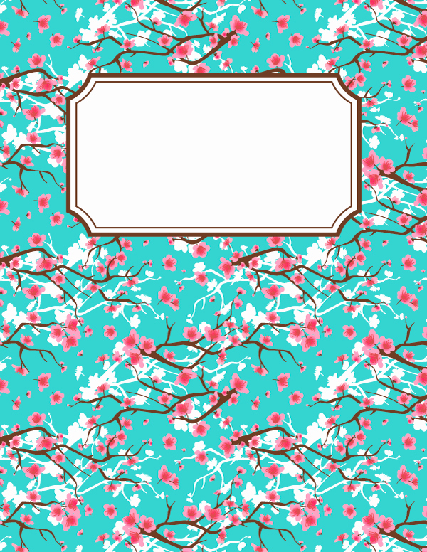Free Editable Printable Binder Covers Inspirational Free Printable Cherry Blossom Binder Cover Template