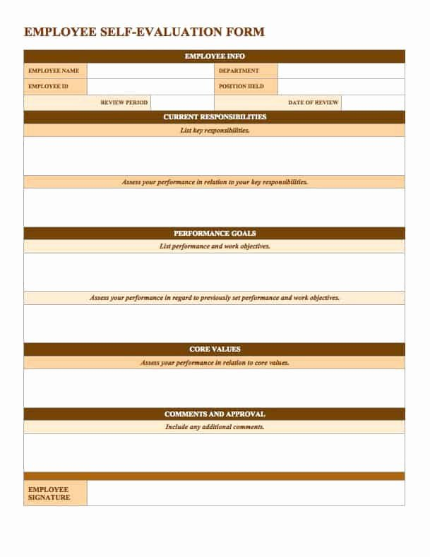 Free Employee Evaluation forms Printable Luxury Free Employee Performance Review Templates Smartsheet