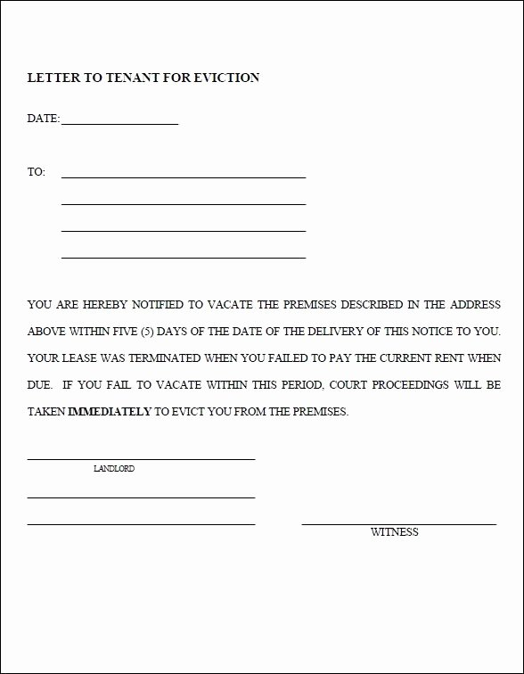 Free Eviction Notice Template Best Of 13 Blank Eviction Notice Templates Free Download