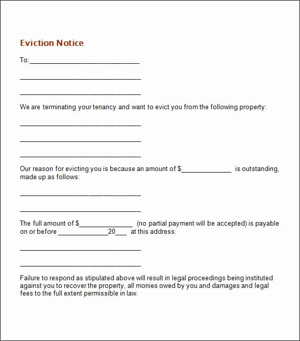 Free Eviction Notice Template Best Of 24 Free Eviction Notice Templates Excel Pdf formats