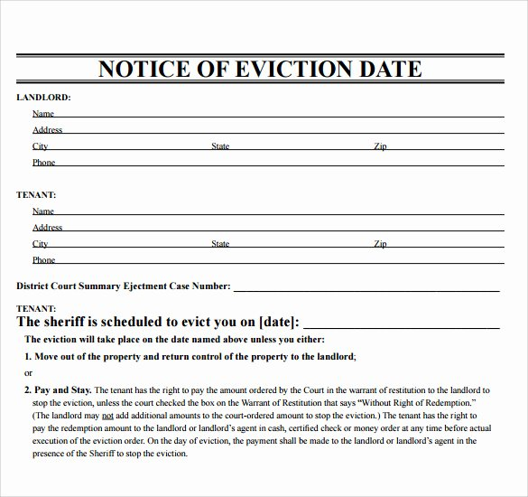 Free Eviction Notice Template Elegant Eviction Template Free Download Printable Templates Lab